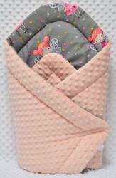rożek niemowlęcy bawełna minky